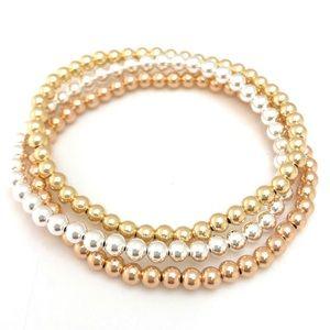 14K Gold, Silver & Rose Gold Bracelets